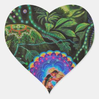 Ayahuasca Vision Pegatina En Forma De Corazón