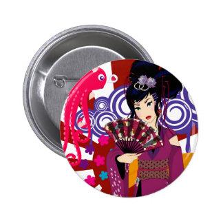 Ayaka in Harajuku Town Pinback Buttons
