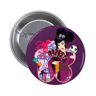 Ayaka in Harajuku Town Pinback Button