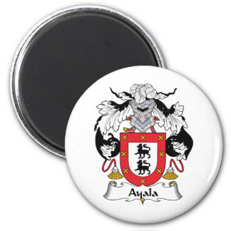 Ayala Family Crest 2 Inch Round Magnet