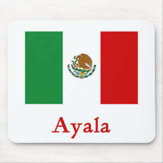 Ayala Mexican Flag Mouse Pad