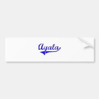 Ayala Surname Classic Style Bumper Sticker