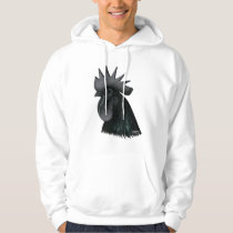 Ayam Cemani Rooster Head Hoodie