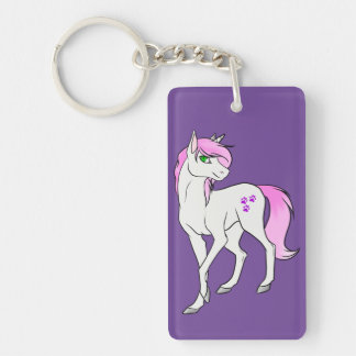 Ayamii Unicorn Purple Keychain