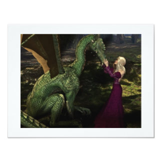 Ayana and the Dragon 4.25x5.5 Paper Invitation Card