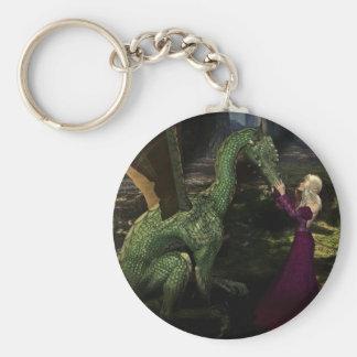 Ayana y el dragón llavero redondo tipo pin