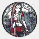 Ayanna Belly Dancer Garden Fairy Sticker