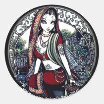 ayanna, faery, hanging, garden, gardens, birds, fairy, faerie, myka, jelina, gothic, belly, dancer, eastern, goddess, acrylic, Adesivo com design gráfico personalizado