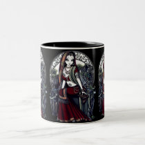 ayanna, eastern, inspired, feary, fantasy, mug, myka jelina, exotic, bird, hanging, gardens, garden, angelic, script, fairies, faerie, faery, fairy, dark, easter, science fiction, Mug with custom graphic design
