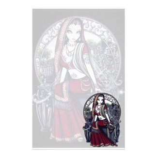 """Ayanna"" Gothic Belly Dancer Fairy Art Stationery"