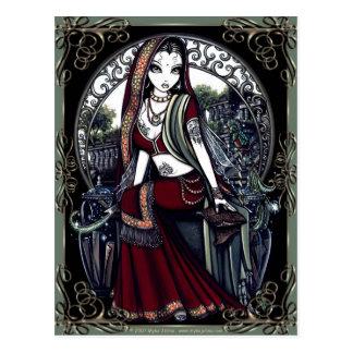 """Ayanna"" Secret Fairy Garden Postcard"