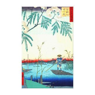 Ayase River 1857 Canvas Print