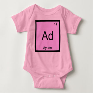 Ayden Name Chemistry Element Periodic Table Baby Bodysuit