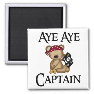 Aye Aye Captain Teddy Bear Pirate Magnet