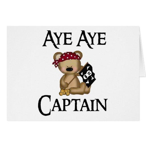 Aye Aye Captain Teddy Bear Pirate Notecard