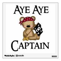 Aye Aye Captain Teddy Bear Room Graphics
