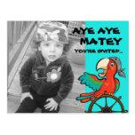 Aye Aye Pirate Parrot Post Cards