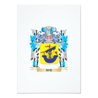 Aye Coat Of Arms 5x7 Paper Invitation Card