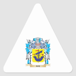 Aye Coat Of Arms Triangle Stickers