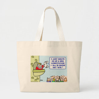 aye constitution king favor canvas bags