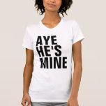 Aye él es camiseta de la mina