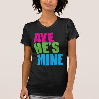 Aye él es el mío camiseta divertida retra