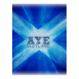 Aye Escocia YES.jpg Tarjeta Postal