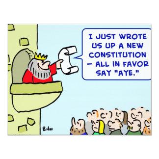 """aye favor del rey de la constitución invitación 4.25"""" x 5.5"""""""