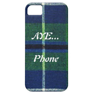 "Aye Phone ""Scottish Humor"" Tartan I-Phone Case iPhone 5 Cases"
