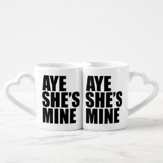 Aye she's mine Lesbian Coffee Mug Set