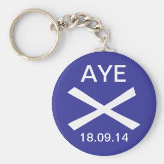 Aye to Scottish Independence Keyring Keychain