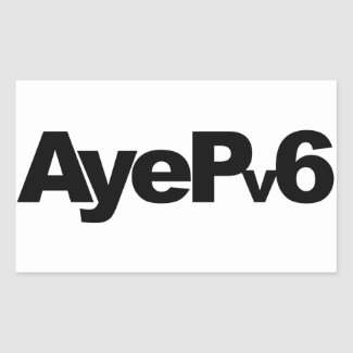 AyePv6 Sticker