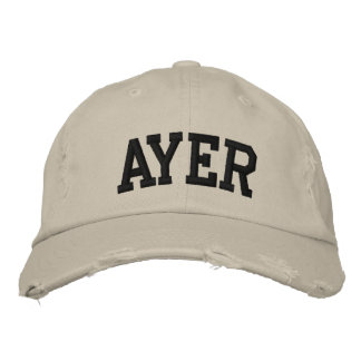 Ayer Embroidered Hat Embroidered Hat