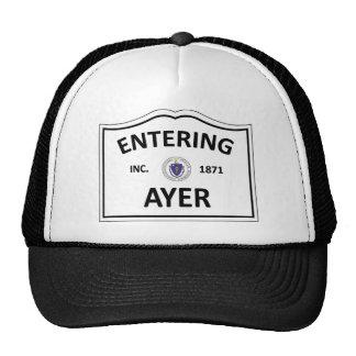 AYER MASSACHUSETTS Hometown Mass MA Townie Trucker Hats