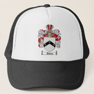 AYERS FAMILY CREST -  AYERS COAT OF ARMS TRUCKER HAT