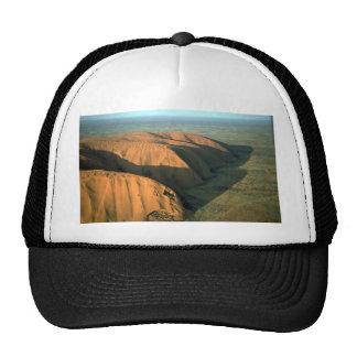 Ayers Rock at sunset, Australia Desert Mesh Hats