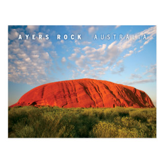ayers rock in australia postcard