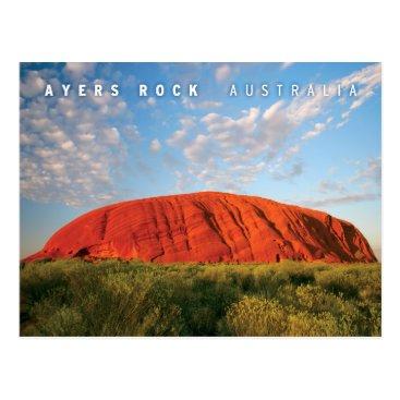 sumners ayers rock in australia postcard