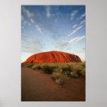ayers rock in australia poster