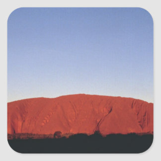 Ayers Rock Square Sticker