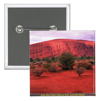 Ayers Rock, Uluru National Park, Australia Desert Pin