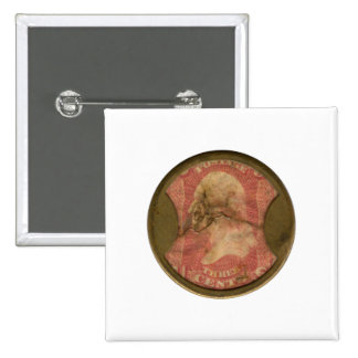 Ayers Three-Cent Enclosed Postage Pinback Buttons