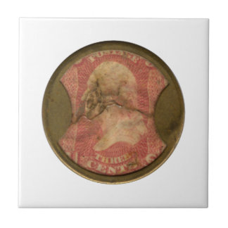 Ayers Three-Cent Enclosed Postage Tile