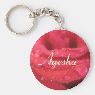 Ayesha Basic Round Button Keychain