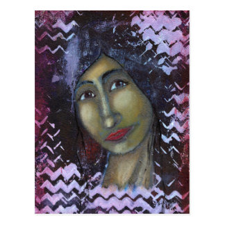 Ayesha femenino divino tarjeta postal