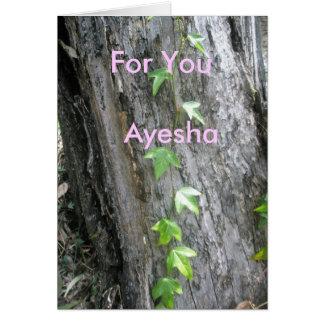 Ayesha Greeting Card