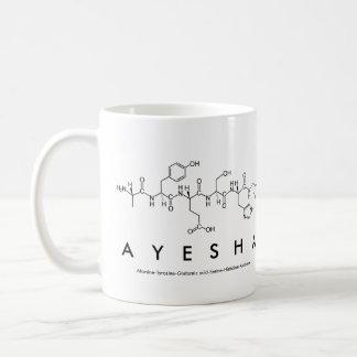 Ayesha peptide name mug