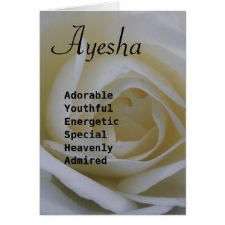 Ayesha Tarjeta De Felicitación