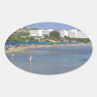 Ayia Napa Beach Oval Sticker