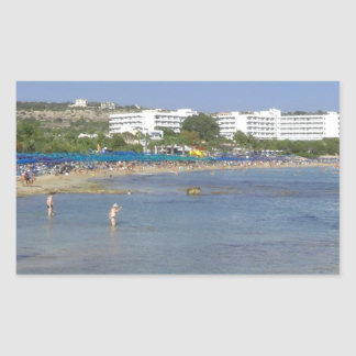 Ayia Napa Beach Rectangular Sticker